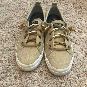 Sperry Crest Vibe gold shoes